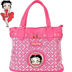 c233be86e904 BB567-3 Betty Boop Rhinestone Studded Bag