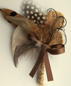 Camouflage and Twine Boutonniere mens wedding by kathyjohnson3, $15.00