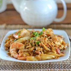 char quay teow  Singaporean style fried rice noodles.