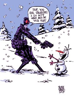 Lobster Johnson vs. Olaf - Skottie Young