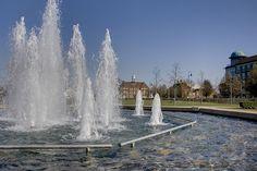 Fountains in Letchworth Garden City.