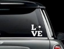 Love Soccer Car Window Decal. Decals made out of outdoor fdc vinyl. They can be placed on your car windows or any other hard surface. by MoreThanGlitz on Etsy