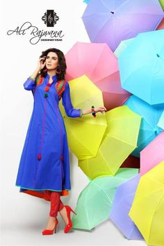Blue kurti.. with touch o orang