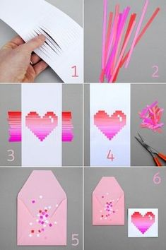DIY handmade origami paper art paper series teaches you love, is not it simple?Origami Archives - Page 3 of 11 - My Crafts Your CraftsDIY Paper Heart Card love girly cute girl heart pretty diy diy projects diy craft diy paper heart gifts made decorat Cute Crafts, Crafts To Do, Craft Projects, Crafts For Kids, Arts And Crafts, Creative Crafts, Easy Crafts, Rock Crafts, Diy Paper