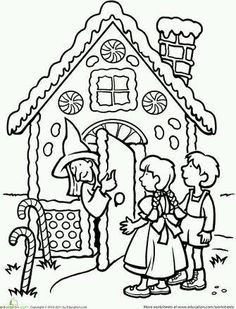 Fairy tale coloring pages and worksheets help your kid experience the magic and mystery of traditional stories. Try fairy tale coloring pages and worksheets. Coloring For Kids, Coloring Pages For Kids, Coloring Sheets, Traditional Tales, Traditional Stories, Hansel Y Gretel Cuento, Fairy Tale Projects, Hansel And Gretel House, Fairy Tales Unit