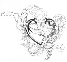 Heart Rose Tattoo Idea photo molotov_sacred_heart___n___roses_by.jpg