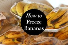 Say goodbye to the dreaded black frozen banana and start freezing your bananas a better way to create delicious smoothies and nice cream. Ripe Banana Recipe, Banana Recipes, Frozen Meals, Frozen Desserts, Healthy Desserts, Ww Desserts, Healthy Foods, Freezing Fruit, Cream Sauce Pasta