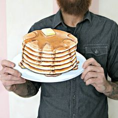 Image of Small Pancakes die cut (wood plaque) hang in your kitchen!
