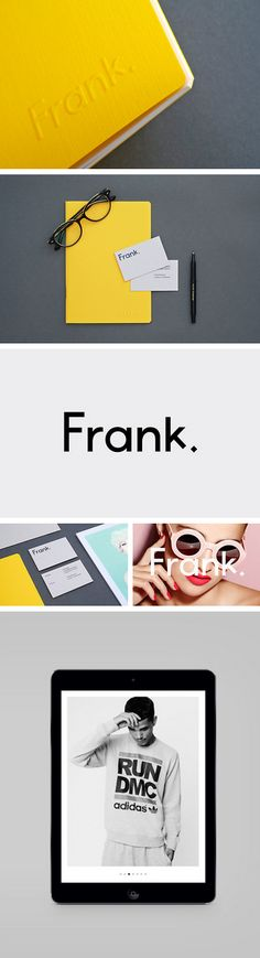 Brand identity for Frank, a high-end digital retouching agency with bases in both London and Stockholm. Created by Midday Studio.