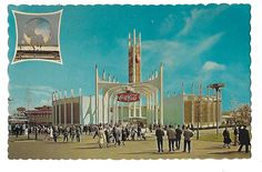 Vintage Mid Century New York World's Fair Postcard - The Coca-Cola Pavilion by 20thCenturyCool on Etsy