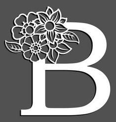 Letter silhouette with flowers letter b vector Vector Pop, Line Art Vector, Vector Free, Gift Voucher Design, Pop Art Background, Alphabet, Flower Silhouette, Paper Pop, Halloween Silhouettes