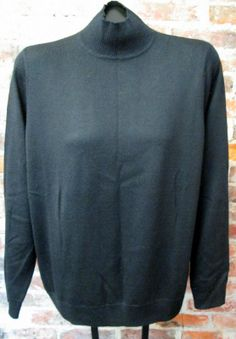 Black Mock Turtleneck Sweater Sz 2X - Acrylic/Wool Knit by Relativity