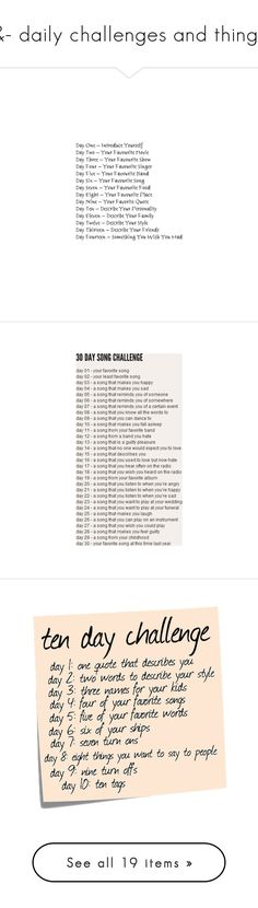 """""""&- daily challenges and things"""" by loser-prodigy ❤ liked on Polyvore featuring quotes, challenges, words, text, fillers, saying, phrase, backgrounds, random and filler"""
