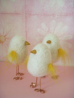 "Needle felted ""peeps"" by flightsofwhimzy"