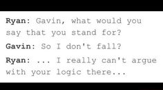 Gavin Logic the only thing you can't argue with. Gavin always some funny logic and amazing quotes. Amazingphil, Roosterteeth Rwby, Markiplier, Roster Teeth, Gavin Free, Funny Logic, Funny Memes, Hilarious, Achievement Hunter