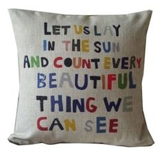 Vintage Home Decor Cotton Linen Throw Pillow Cover Let Us Play | Overstock.com Shopping - The Best Deals on Throw Pillows