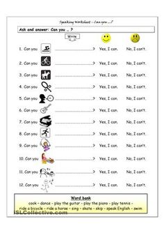 Speaking worksheet for beginners with pictures. Students complete the sentences and then interview each other. Optional word bank can be easily d for stronger classes. - ESL worksheets