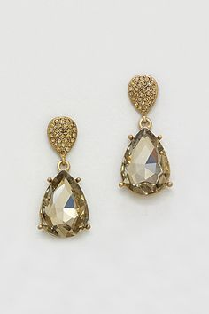 Crystal Vienna Earrings in Colorado Topaz on Emma Stine Limited