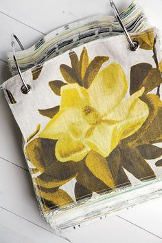 "Photo Credit: Andrew Cebulka. <b>FABRIC:</b> Virginia interior designer <b><u><a href=""http://laurenliess.com""target=""_blank"">Lauren Liess</a></b></u> hired the artist Kat Wright to depict the graceful magnolia blossom for her curtain- and pillow-perfect linen fabric. The overscale print is available  in six colors: chartreuse (shown),  yellow, orange, China blue,  pink, and true ($120 per yard; <b><u><em><a href=""http://laurenliess.com""target=""_blank"">laurenliess.com</a></b></u></em>)."