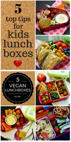 A five day vegan lunch plan for kids along with 10 lunchbox tips. All the recipes are veggie and vegan, but the tips will be useful for everyone.