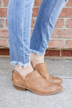 Faux Leather Distressed Ankle Cutout Booties Sochi-95 – UOIOnline.com: Women's Clothing Boutique