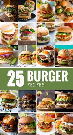 I've gathered some of the BEST burger recipes and burger ideas, along with helpful information to help teach you how to make burgers that are perfect! Best Burger Recipes (How to Make Burgers - 25 Burgers The Best Burger, Best Burger Recipe, Good Burger, Burger Menu, Gourmet Burgers, Beef Burgers, Burger Bar, Burger On Grill, Gourmet Sandwiches