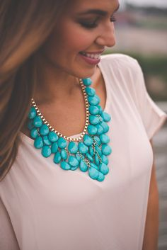 Dottie Couture Boutique - Teal Drop Necklace*, $16.00 (http://www.dottiecouture.com/teal-drop-necklace/)