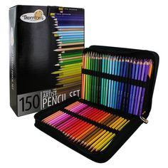Shop for Thornton's Art Supply 150 Piece Multicolored Pencil Artist Drawing Set with Zippered Case. Get free delivery On EVERYTHING* Overstock - Your Online Scrapbooking Shop! Adult Coloring, Coloring Books, Colouring Pencils, Pencil Drawings, Art Drawings, Artist Pencils, Color Pencil Art, Sketch Painting, Sketch Drawing