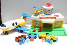 Vintage Fisher Price Little People 1980 Airport.  I had this one!!