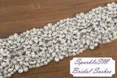 Rhinestone Bridal Sash Rhinestone and Crystal Wedding by SparkleSM, $225.00