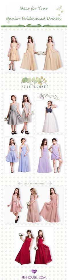 Ideas for Your Junior Bridesmaid Dresses!  #JuniorBridesmaidDresses Choose one!