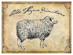 Primitive Vintage Grungy Pantry Labels Sheep Candle Canister Crock Jar Set of 6 Bin Labels, Pantry Labels, Primitive Labels, Primitive Candles, Candle Labels, Vintage Tins, Canisters, Crock, Sheep