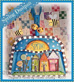 Spring Dust Pan Hanger ePattern - Martha Smalley - PDF DOWNLOAD