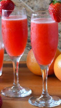 Strawberry Grapefruit Mimosas