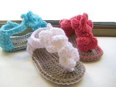 sandalias para bebe tejidas