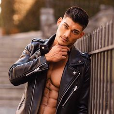 Look At These Men's Jackets. Uncover some great men's fashion. With so much style for men to pick from these days, it can be a daunting experience. Leather Fashion, Leather Men, Mens Fashion, Fashion Wear, Leather Outfits, Style Fashion, Brown Leather, Fashion Tips, Black Leather Biker Jacket