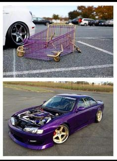 Slammed cart & SLAMmed s14 kouki  God that purple and gold