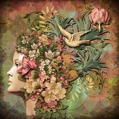 Inspiration Lane, swansong-willows: (via Collage Art/Altered Art)
