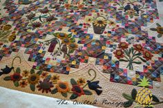 THE QUILTED PINEAPPLE: Sunflower Gatherings - Primitive Gatherings SBOW 2014