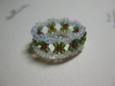 My Daily Bead: How to make a Christmas Ring