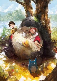 Tonari no Totoro - 50 Ejemplos de Anime Arte Digital | Arte y Diseño
