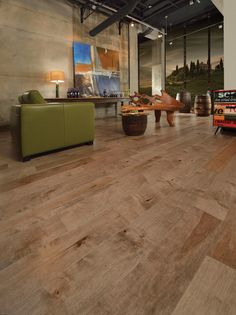 Mirage Floors, the world's finest and best hardwood floors. www.miragefloors.com #Mirage #Hardwood #Floor #Old #Maple #Linen #Living #Room