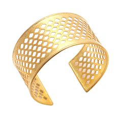 Stunning Gold Metal Adjustable Statement Cuff Bracelet with Intricate Filigree - Fashion Jewelry for Women by footsoles24 on Etsy