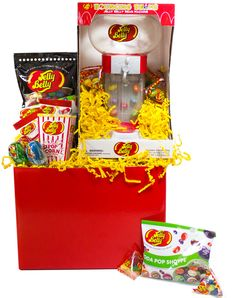 Not sure what to buy for the Jelly Belly Lover in your life? Cover all your bases with this adorable and delicious Jelly Belly Jelly Bean Candy Gift Basket! Experience our largest assortment of scrumptious Jelly Belly Flavors from assorted original flavors to Jelly Belly Lollipops. The keepsake Jelly Belly Dispenser will keep your recipient thinking of your sweet gift long after the original beans are gone.  This Gourmet Jelly Bean Lovers Gift Basket contains a Jelly Belly Bouncing Bean ...