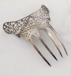 The Closet Historian: Hair Comb History Highlight #7: Silver Combs