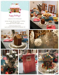 I've always wanted to have a gingerbread house decorating party!!