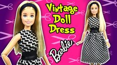 How to Make Dress for Barbie Doll - DIY - Easy Barbie Clothes - Making K...