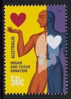 Australian Organ Donation Awareness stamp