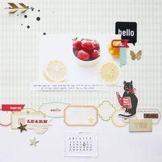 #papercraft #scrapbook #layout - by JINA-B at @studio_calico
