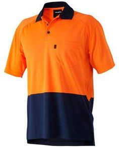KingGee Short Sleeve Hi Vis Workcool Polo - 100% Polyester Micromesh